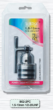 (B02-2PC) 13MM drill chuck double blister packing